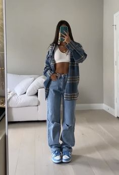 Swaggy Outfits, Baddie Outfits Casual, Cute Casual Outfits, Simple Outfits, Stylish Outfits, Summer Outfits, Fall Tomboy Outfits, Teen Fashion Outfits, Retro Outfits