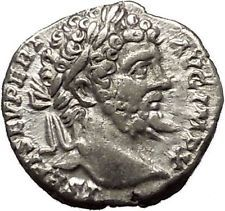SEPTIMIUS SEVERUS 197AD Silver Ancient Roman Coin Victory Cult i53200
