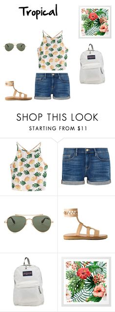 """School outfit #5 (summer)"" by thisisnotjs on Polyvore featuring WithChic, Frame, Givenchy and JanSport"