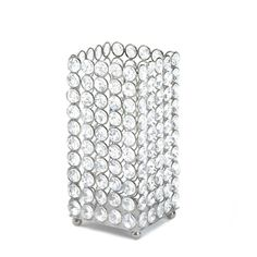 Glistening Crystal Square Candle Holders for Wedding Centerpieces and Decorations - Affordable Elegance Bridal -