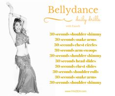 Daily belly dance drills are important! Find more at Faizeh.com