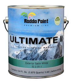 Rodda Paint Exterior Paint- Lifetime Guarentee ($56.48/gallon)