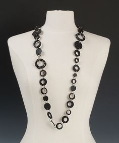 Madison Necklace by Kathleen Nowak Tucci: Steel and Rubber Necklace available at www.artfulhome.com