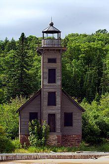 Grand Island East Channel Lighthouse, Grand Island, near Munising, Alger County, Michigan--WIKI-history