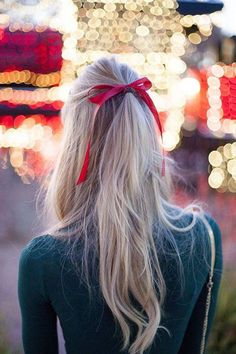 long simple hair with bow - Celebrity plastic surgery photos before and after - http://hairstylee.com/long-simple-hair-with-bow/?Pinterest
