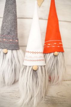 Scandinavian gnome Nordic gnome valentines by thelittlegreenbean