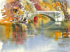 Ken Potter - Cass Street Bridge - California art - fine art print for sale…