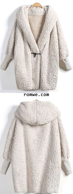 Shop Apricot Hooded Batwing Long Sleeve Loose Coat at ROMWE, discover more fashion styles online. Look Fashion, Fashion Outfits, Womens Fashion, Fashion Trends, Fall Outfits, Cute Outfits, Sarah Jessica Parker, Swagg, Passion For Fashion