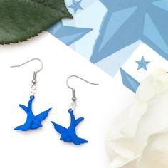 Blue Swallow Tattoo Earrings