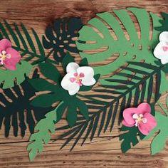 hojas tropicales de papel para fiestas