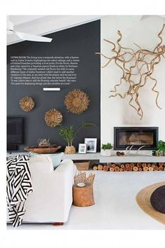 The hottest trends for Take a look inside October Home Beautiful October 2018 issue of Home Be Coastal Living Rooms, My Living Room, Living Room Decor, Living Room Inspiration, Interior Inspiration, Home Interior Design, Interior Decorating, Interior Livingroom, Look Wallpaper