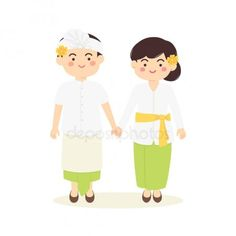 Bali Travel Guide: Things to Know Before You Go to Bali Wedding Topper, Bali Travel Guide, Digital Invitations, Chinese Culture, Wedding Art, Balinese, Illustrations And Posters, Simple Art, Traditional Outfits