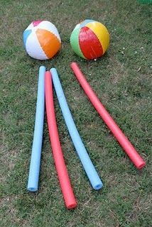 pool noodle and ball fun