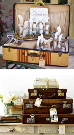 Design Trend: Vintage Luggage | Wedding Venues, Party Ideas, Celebrations - OccasionsOnline.com