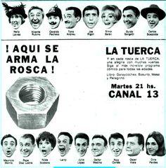 Publicidad de CANAL 13, Buenos Aires, década del 60.
