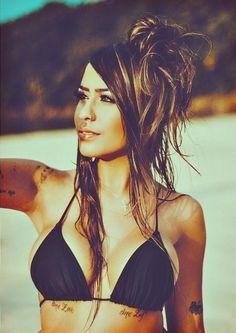 Why is she so pretty? Babe, Beach Bunny, Chi Chi, Woman Crush, Inked Girls, Sexy, Bikinis, Swimwear, Fashion Beauty