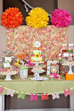 fairy garden theme kid birthday