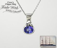 Tanzanite Blue Gem from the Heart of Africa Returning Tide Necklace - tanzanite has a lovely blue violet tone that is perfect for spring