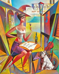 Biography and images of artist Georgy Kurasov, featured at the East West Fine Art gallery in Naples, Florida. Cubist Artists, Cubism Art, Art And Illustration, Illustrations, Modern Art, Contemporary Art, West Art, In Vino Veritas, Arte Pop