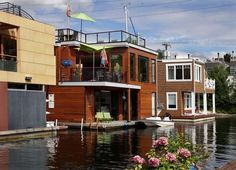 Floating homes in Seattle