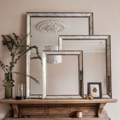 Antiqued Glass Mirrors   Graham & Green