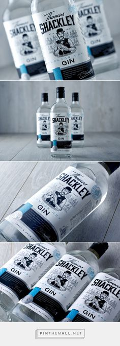 Thomas Shackley gin packaging design by Dmitrii V Ivancenko - http://www.packagingoftheworld.com/2017/11/thomas-shackley.html