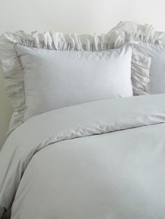 Voile Soft Ruffle Duvet Set by Sewn