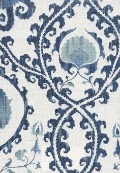 Buy Lewis & Wood Oxus Fabric online Alexander Interiors,Designer Fabric, Wallpaper and Home decor goods Blue And White Fabric, Blue Fabric, White Fabrics, Textiles, Textile Patterns, Pierre Frey, Arabesque, Fabric Design, Pattern Design