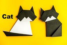 Оригами. Origami. Кот оригами / Cat origami 折り紙, 종이 접기 **