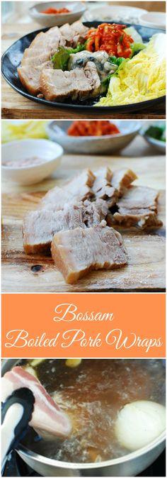 Delicious, traditional bossam (boiled pork wraps) recipe!