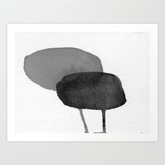 Two Stones Art Print Modern abstract minimalist watercolor painting. Abstract Watercolor, Watercolor Paintings, Abstract Art, Artwork For Living Room, Modern Art Paintings, Stone Art, Botanical Art, Framed Art Prints, Collage Art