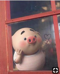 So cute!!!!!!!!!!!!! I love it!!!!!!!!!!!!!! Pig Wallpaper, Snoopy Wallpaper, Animal Wallpaper, This Little Piggy, Little Pigs, Kawaii Drawings, Cute Drawings, Pig Illustration, Illustrations