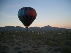 One of the most amazing experiences, balloon over Arizona, USA