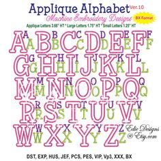 Applique Alphabet Ver 10 Machine Embroidery by EdiesDesigns