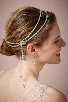 Jazz Age Halo from BHLDN, bridal headpiece hair accessory #mwbridalstyle #bhldnbride