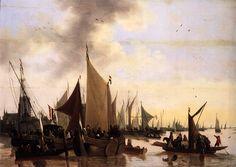 """""""Vue sur le Port de Dordrecht"""" uit het Musée de la Rochelle"""