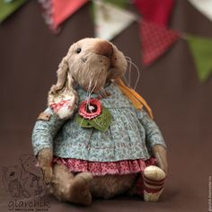 Купить крольчиха ШмокЛа - бежевый, кролик, крольчиха, заяц, друзья тедди, teddy, teddytoy