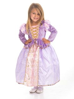 Tangled Inspired Rapunzel Dress Up Costume - soft and pretty - machine washable, too!  #Rapunzel #dressup #princess #costume