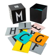 Design letters memory spel