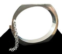 Vintage Sterling Silver Bangle Bracelet  Vintage by sugardrawers