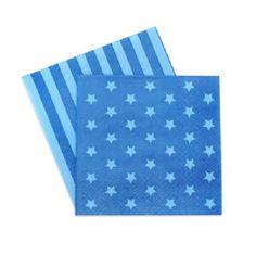 Paper Beverage Napkins - Blue Star