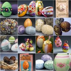 Easter Eggstravaganza on Crafts 'n Coffee. Dozens of creative ways to decorate Easter eggs.