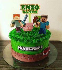 Roblox Birthday Cake, Football Birthday Cake, Roblox Cake, Minecraft Birthday Cake, Easy Minecraft Cake, Minecraft Crafts, Boys Bday Cakes, Cakes For Boys, Pastel Minecraft