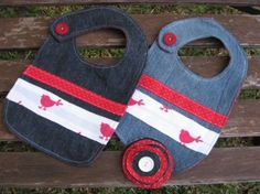 Recycled- Denim Baby Bibs | recycled