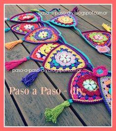 New Ideas Crochet Bag Pattern Tutorial Hooks Baby Afghan Crochet, Crochet Pillow, Tunisian Crochet, Crochet Bunny, Crochet Home, Love Crochet, Knit Crochet, Crochet Bunting Pattern, Crochet Garland