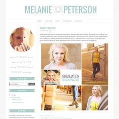 Premade Blogger Template - Photography Blog Design