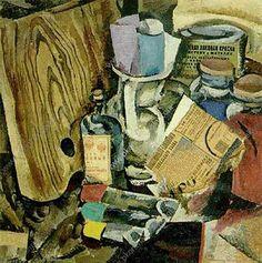 Pyotr Konchalovsky, Still Life, The Palette And Paint, 1912