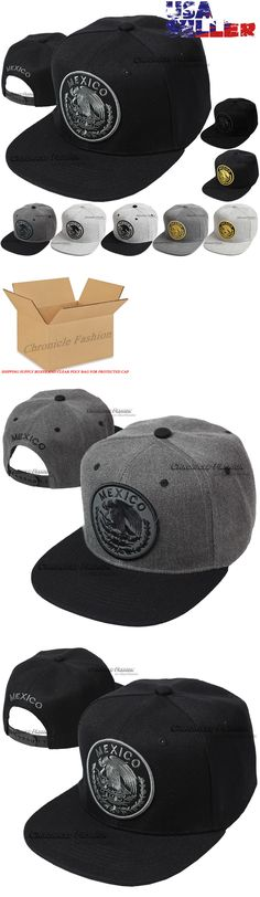 0b17cd92dc4 Hats 52365  Baseball Cap Mexico Hat Snapback Federal Logo Embroidered  Mexican Flat Bill Hats -  BUY IT NOW ONLY   11.35 on  eBay  baseball  mexico   snapback ...