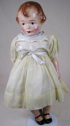 Rare Amberg 1921 MIBS Composition Doll by Hazel Drucker
