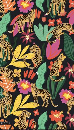 Whats Wallpaper, Iphone Background Wallpaper, Tumblr Wallpaper, Cute Backgrounds, Cute Wallpapers, Cute Patterns Wallpaper, Photo Instagram, Pattern Art, Jungle Pattern